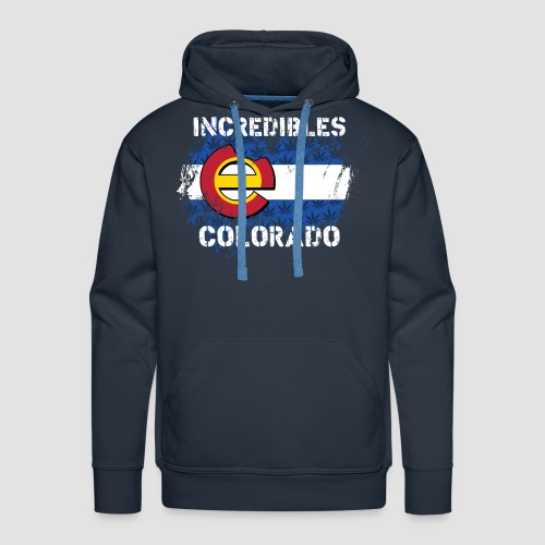 "incredibles colorado ""e"" flag Hoodie - Men's Premium Hoodie"