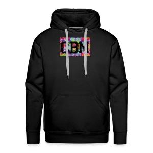 Black CBM tie die logo hoodie - Men's Premium Hoodie