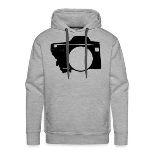 Men's Black Montana Camera Hoodie - Men's Premium Hoodie