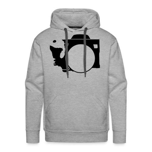 Men's Black Washington Camera Hoodie - Men's Premium Hoodie