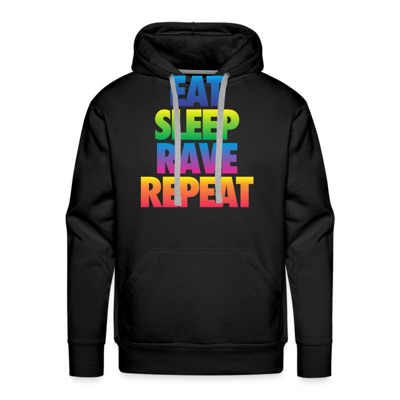 Eat Sleep Rave Repeat - Men's Premium Hoodie