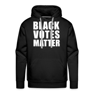 Black Votes Matter - Men's Black Hoodie   Front Design Only - Men's Premium Hoodie