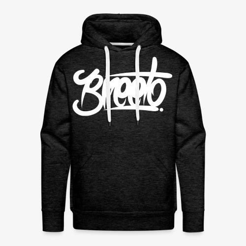 Breeto WHITE Logo - Hoodie - Men's Premium Hoodie