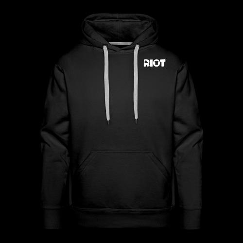 Men's Riot Hoodie Standard (White Logo) - Men's Premium Hoodie