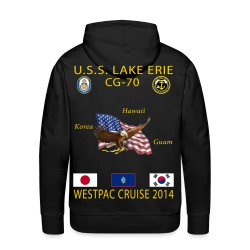 USS LAKE ERIE CG-70 2014 CRUISE HOODIE - Men's Premium Hoodie