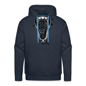 Lacrosse Negative Traditional - Men's Premium Hoodie