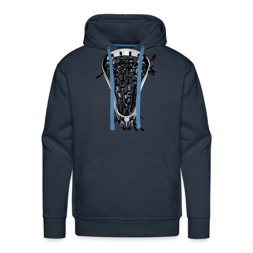 Lacrosse Negative Traditional - Men's Premium Hoodie