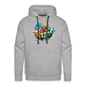 Rubik's Cube Colour Splatters - Men's Premium Hoodie