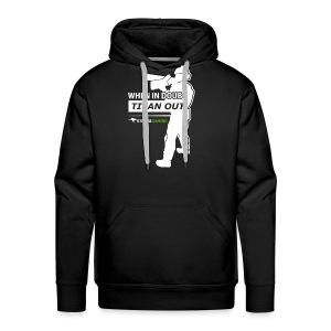 """When in Doubt, Titan Out"" (Dark) Hooded Sweatshirt - StrayaGaming - Men's Premium Hoodie"