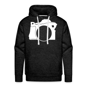 Men's White Oregon Camera Hoodie - Men's Premium Hoodie