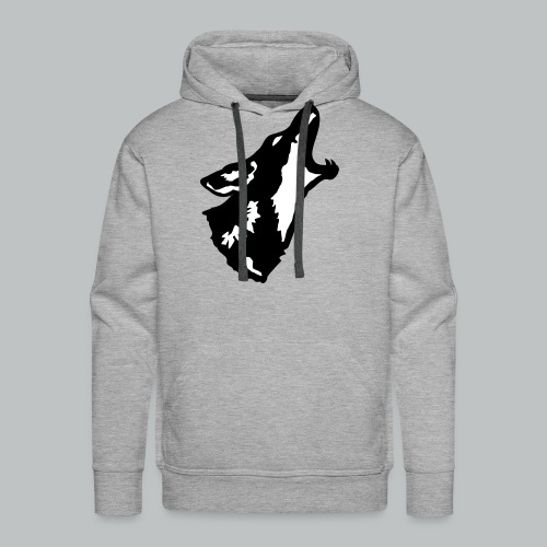 Howling Coyote - Black - Men's - Men's Premium Hoodie