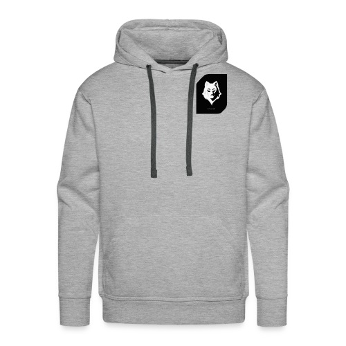 Men Gray Hoodie - Men's Premium Hoodie