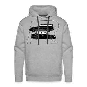 850R T5-R Swedish Turbo Black Outline - Men's Premium Hoodie