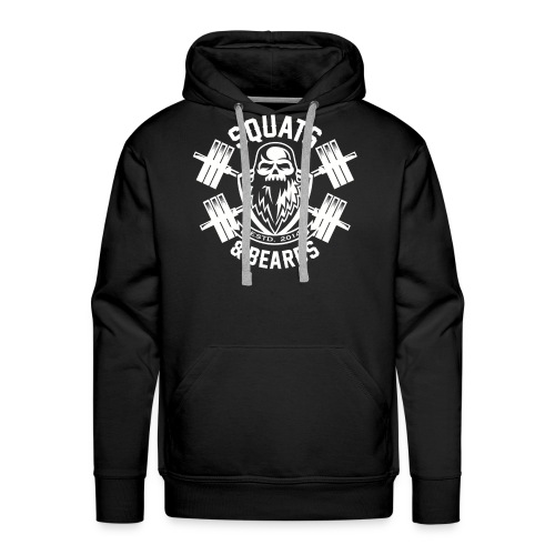 Squats and Beards Pull-Over Sweatshirt - Black - Men's Premium Hoodie
