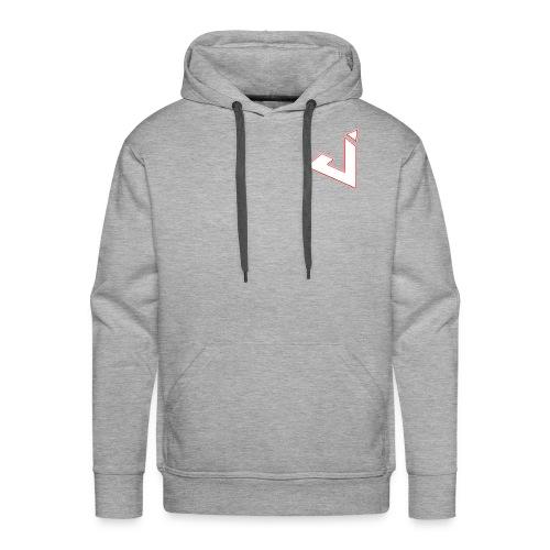 Jadsey Grey Hoodie White Red Logo - Men's Premium Hoodie