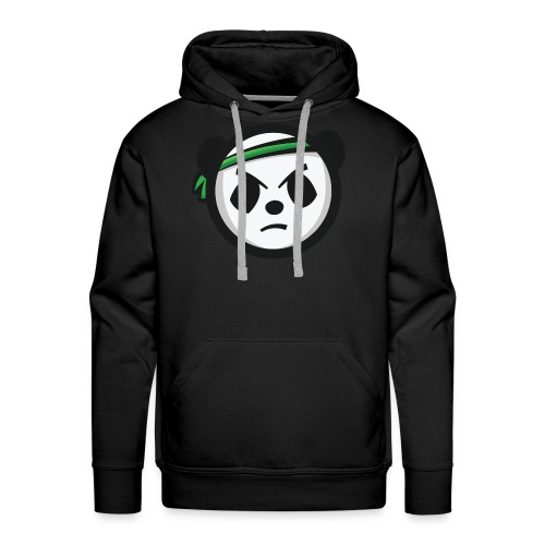 Black Hoodie - Markee Panda Logo - Men's Premium Hoodie