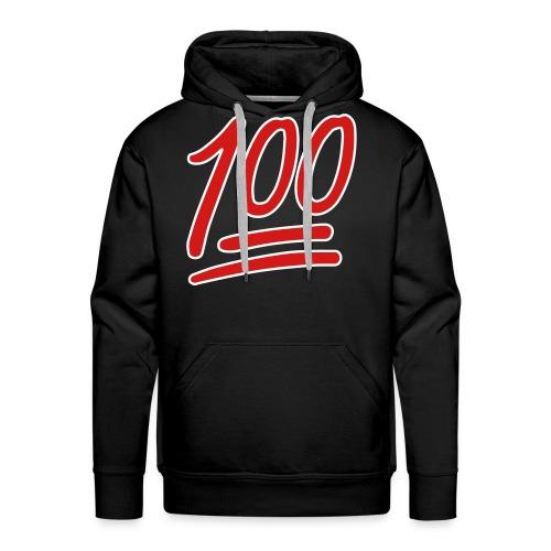 Mens Keep It 100 Hoodie (Black) - Men's Premium Hoodie