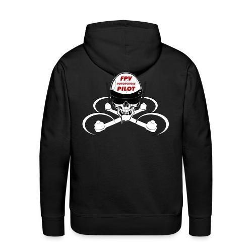 FPV Rotorcross Skull Hoodie - Men's Premium Hoodie