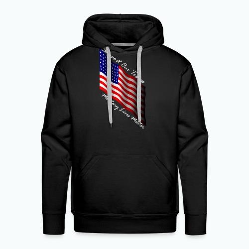 military lives matter hoodie - Men's Premium Hoodie