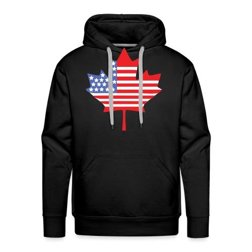Canadian American Canada + USA Flag Hoodie - Men's Premium Hoodie