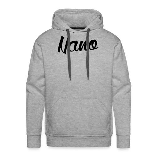 Nano Calligraphy Hoodie (Black Text) - Men's Premium Hoodie
