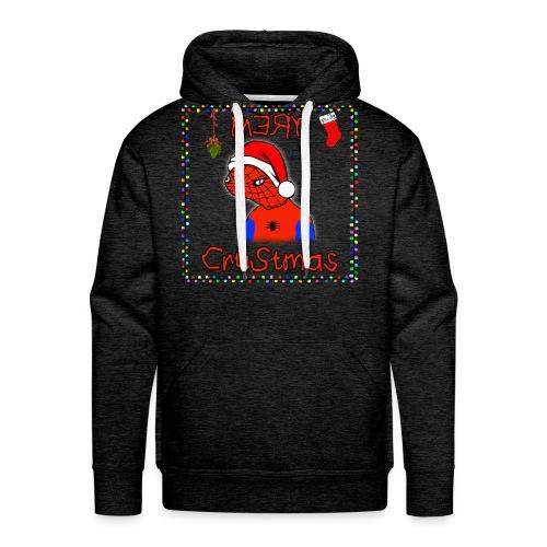 Mery Crustmas (RED TEXT) - Men's Premium Hoodie