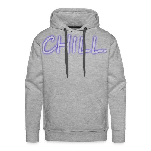 Mens Sweater - Grey/Blue glow - Men's Premium Hoodie