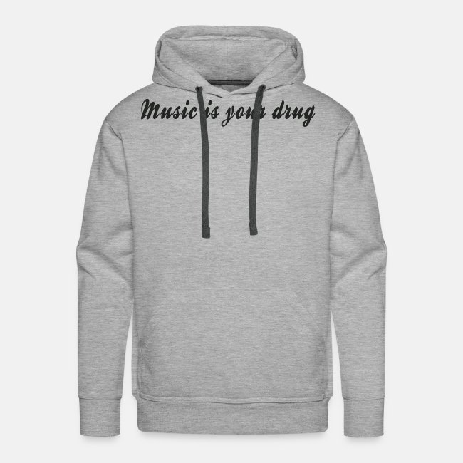 """Black """"music is your drug"""" text hoodie"""
