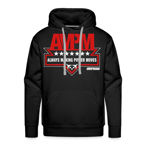 Men's Heavyweight Premium Hoodie (BLACK/RED) - Men's Premium Hoodie