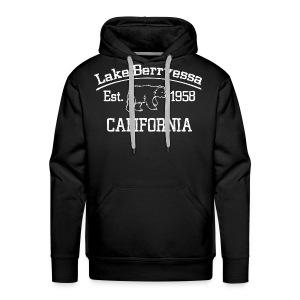 Premium Lake Berryessa Hoodie (Bear, White) - Men's Premium Hoodie