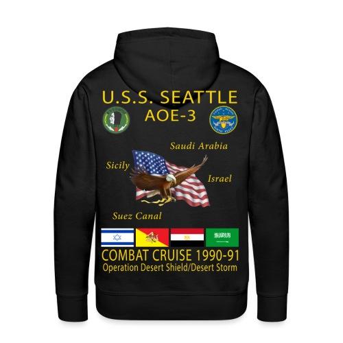 USS SEATTLE 1990-91 CRUISE HOODIE - Men's Premium Hoodie