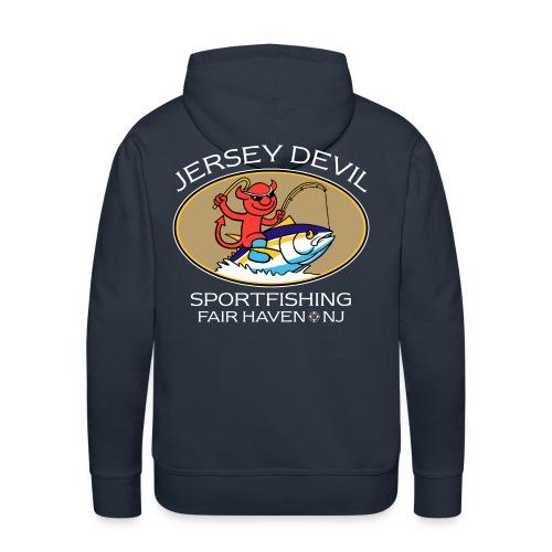 Jersey Devil Men's Premium Hoodie Dark: Tuna - Men's Premium Hoodie