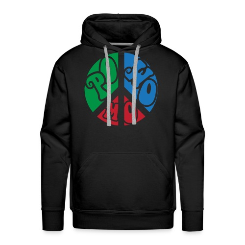 powomo peace sign hoodie - Men's Premium Hoodie