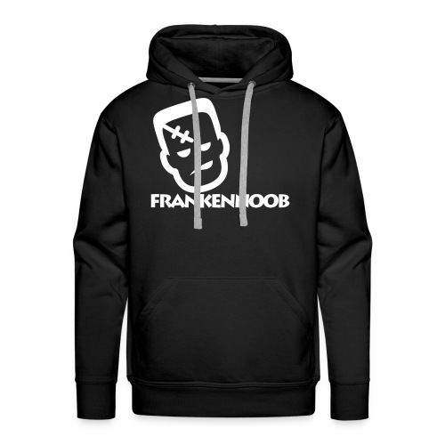 FrankenNoob Hoodie White Logo - Men's Premium Hoodie