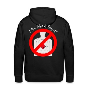 I am not a target - No - Men's Hoodie White Target & White Tag - Men's Premium Hoodie