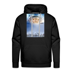 UFO Hoovering Earth - Men's Premium Hoodie