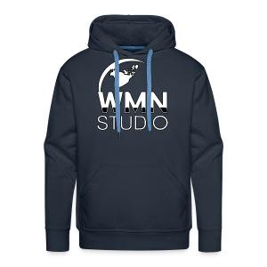 WMN Studio Globe Logo Men's Premium Hoodie - Men's Premium Hoodie