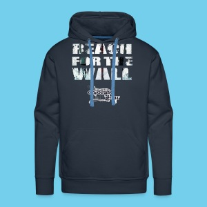 Motivational- Reach for the Wall- Men's Hoodie - Men's Premium Hoodie
