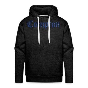 Compton Blue Bandana Leterring - Men's Premium Hoodie