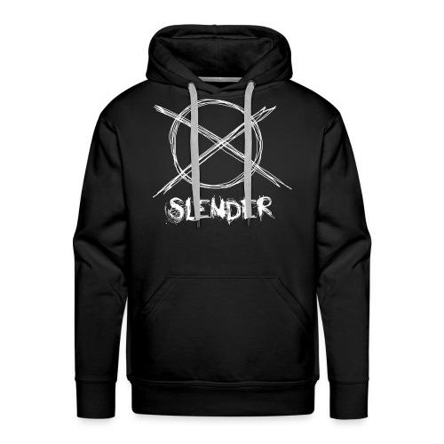 Slender Man - Sign - Men's Premium Hoodie
