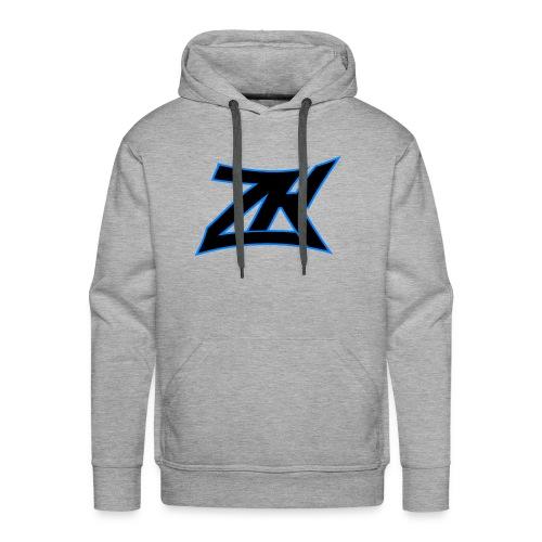 Grey Men's ZK Logo Hoodie - Men's Premium Hoodie