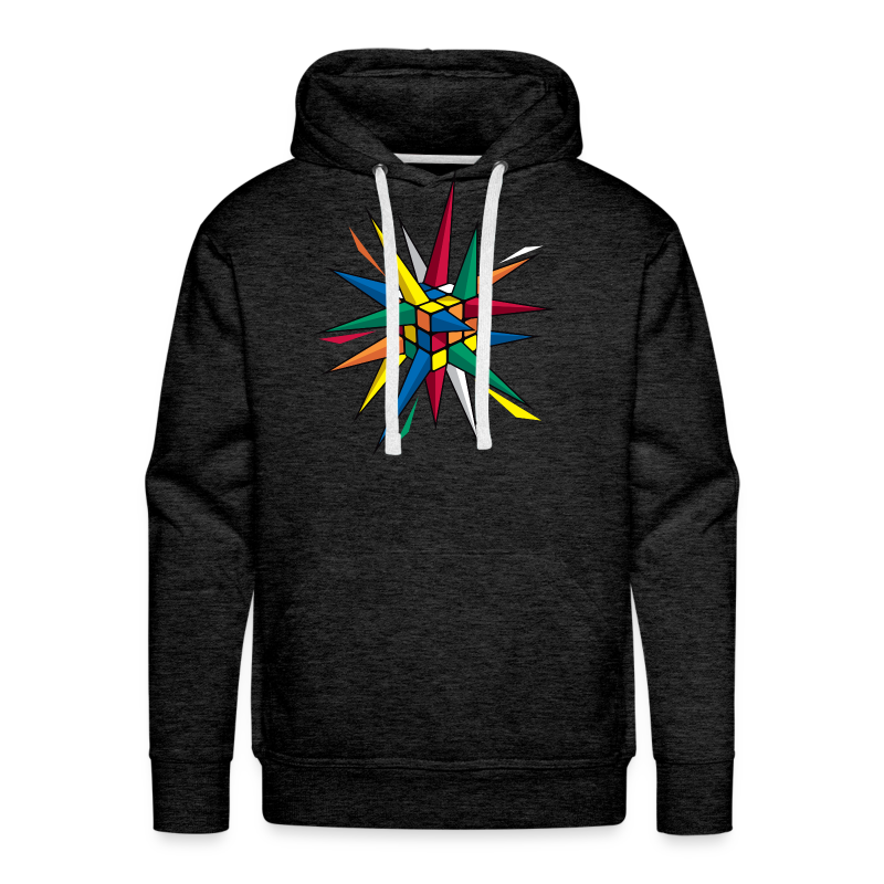 Rubik's Cube Multicolor Spikes - Men's Premium Hoodie