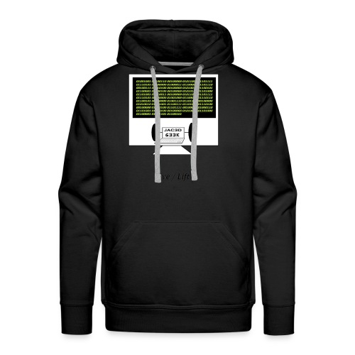 Binary Message to Fit Shamers - Men's Premium Hoodie