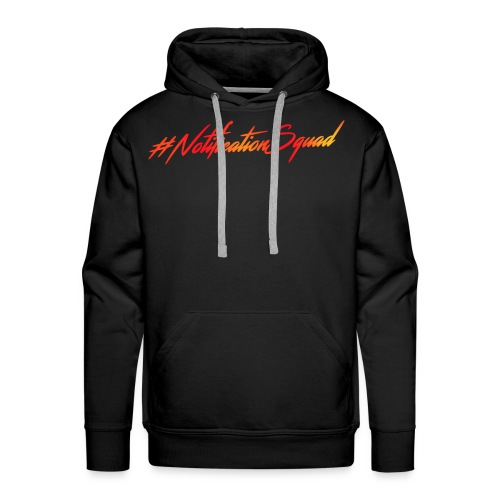 #NotificationSquad Hoodie Black Men - Men's Premium Hoodie
