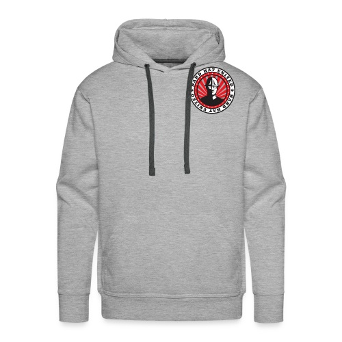 Men's Premium Hoodie: Hard Hat United Building No Matter What - Men's Premium Hoodie