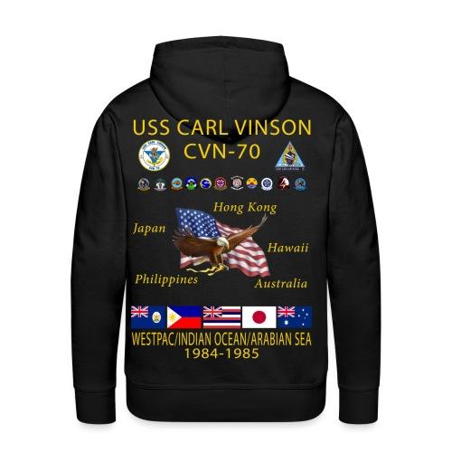 USS Carl Vinson CVN-70 WESTPAC/IO/ARABIAN SEA 1984-85 HOODIE - Men's Premium Hoodie