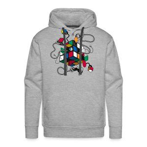 Rubik's Cube Illustration - Men's Premium Hoodie