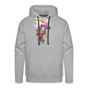 Skating over the city - Men's Premium Hoodie