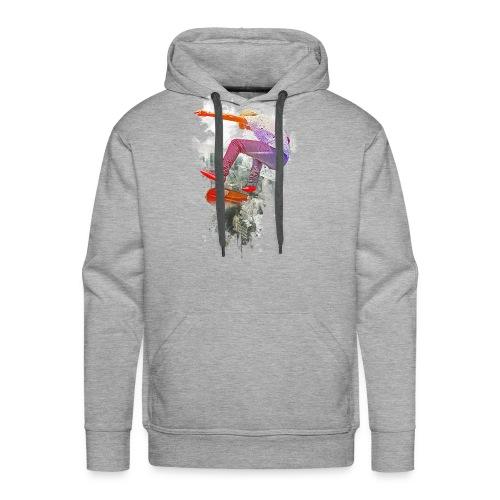 Skating over the city - Men's Premium Hoodie