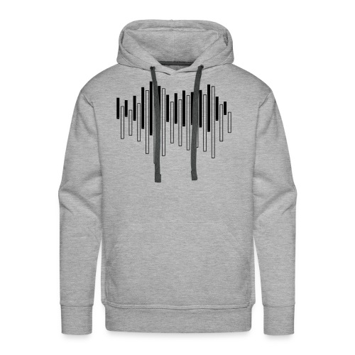 Piano Sound Wave - Men's Premium Hoodie